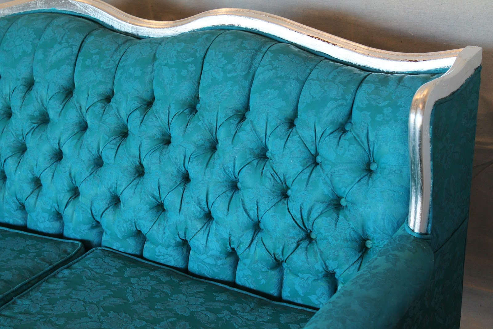 Yes!!!!! You CAN Paint The Fabric On An Upholstered Sofa