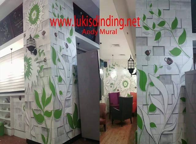 Jasa Lukisan Tembok Lukisan Dinding 3 D Mural Motif 3 Dimensi Daun