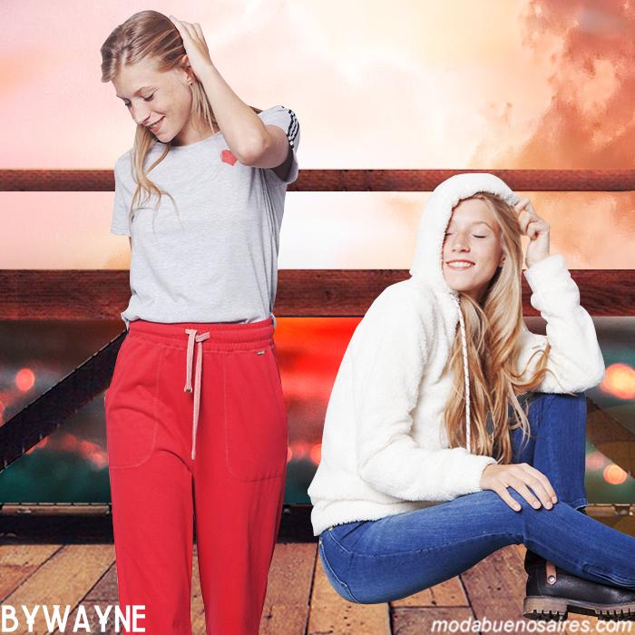Canguros y pantalones deportivos moda mujer invierno 2019.