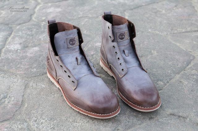 「敗家之路」Timberland 深褐色復古摔紋高筒靴 - 6