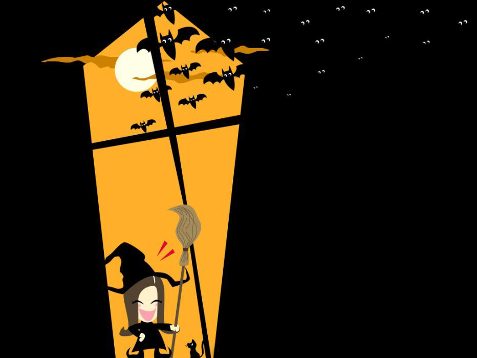 animated halloween wallpaper witches - photo #45