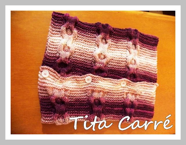 Gola Capuz Batik Rosé em tricot