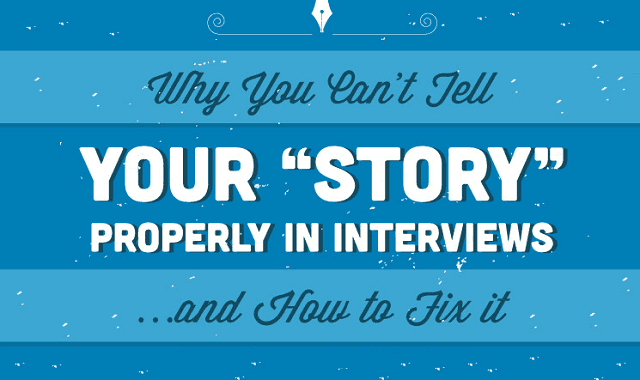 Image: Why you Can't Tell Your Story Properly in Interviews and How to Fix it #infographic