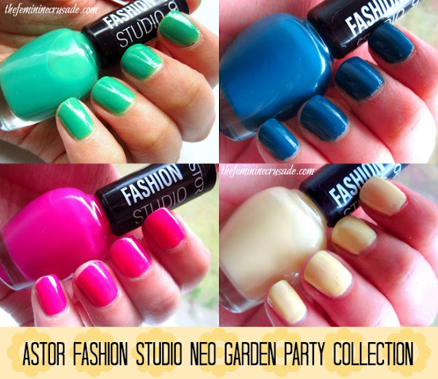 Pictures of Astor Fashion Studio Neo Garden Party Collection nail polishes