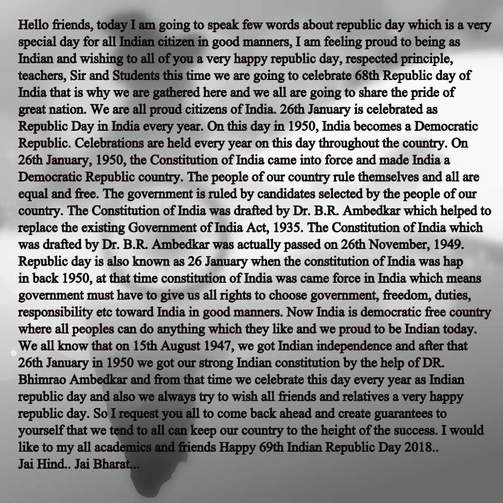 independence day speech for teacher On this day of sacred festival of independence, the prime servant of india extends   our saints, our maestros, our teachers, our scientists and social workers.