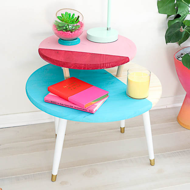Build It – A Color Blocked Two Tiered Coffee Table