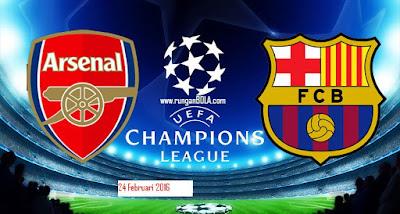 Prediksi Arsenal vs Bacelona 24 Februari 2016