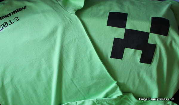 minecraft printable creeper shirt