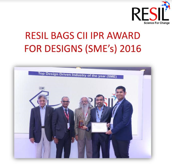 RESIL BAGS CII IPR AWARD FOR DESIGNS (SME's) 2016