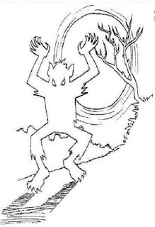 Desenho do lobisomem para colorir, folclore