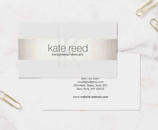 Girly business cards todays feature is a classically beautiful card by maura reed an elegant and sophisticated design colourmoves