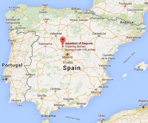 segovia espanha mapa A Terceira Dimensão: ESPANHA   Segóvia segovia espanha mapa