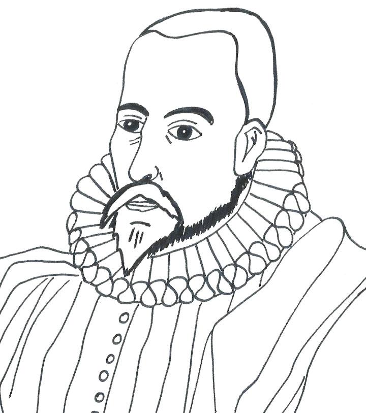 Miguel de Cervantes Saavedra colorear