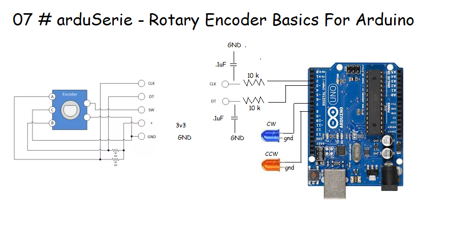 rotary encoder wiring arduino wiring library