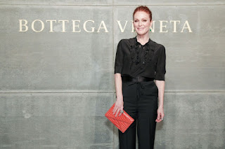 Julianne Moore with her daughter At Bottega Veneta Show At New York Fashion Week 2018