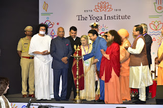 President Kovind pays glowing tribute to The Yoga Institute; Says Yoga can unite people, communities, nations.