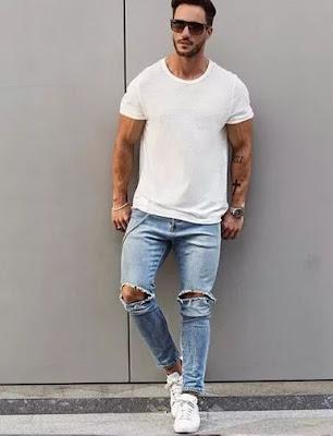 Look branco para homens 2018