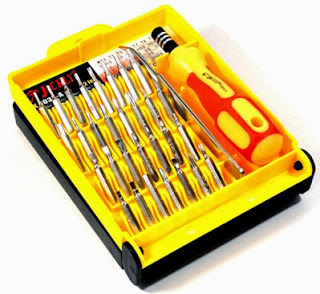 Obeng Set Serbaguna Jackly 32 in 1 Multifungsi + pincet