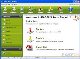 البرامج EaseUS Todo Backup Free