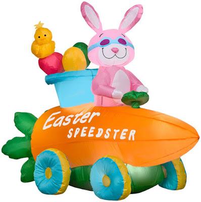 Inflatable Easter Bunny Speedster Car Giveaway