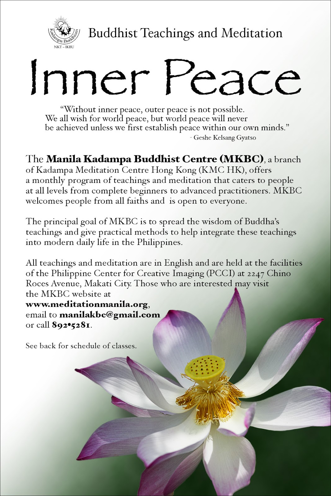 Manila Kadampa Buddhist Centre Inner Peace