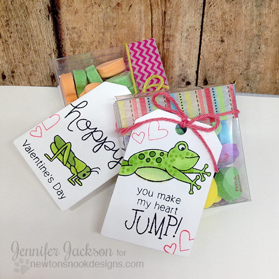 Valentine Mini Treat boxes by Jennifer Jackson | Hoppy Days stamps by Newton's Nook Designs #newtonsnook