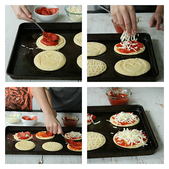 Kid Friendly Mini Pizza Pancakes from Table for Seven: #ad #collectivebias #leggomyeggo #hearthenews