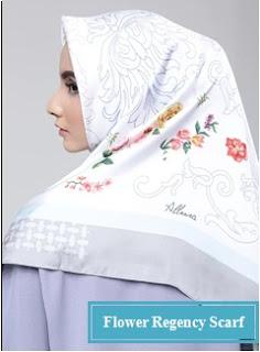 model jilbab Flower regency scarf untuk ibu pejabat