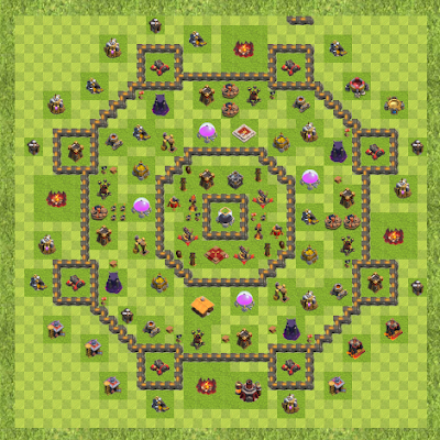War Base Town Hall Level 10 By Sushant Chavan (1 TH 10 Layout)