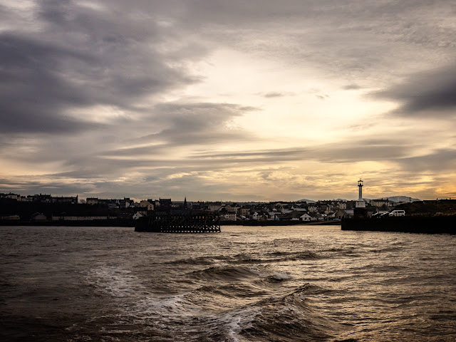 Photo of a heavy sky over Maryport as we headed out onto the Solway Firth on Tuesday morning