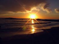 Gün Batışı Deniz Kıyısı, Sahilde Gün Batımı Manzarası