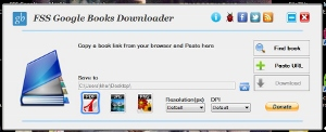 how to copy Google book preview pages with FSS Google Books Downloader