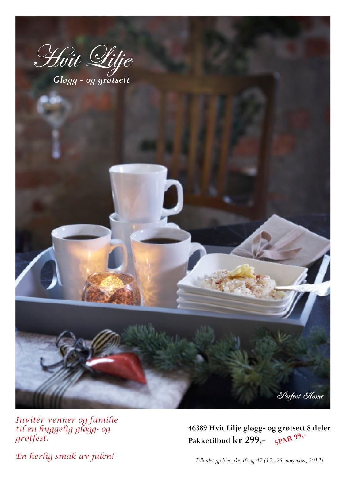 Perfect Home: KJEMPETILBUD! Hvit Lilje gløgg og grøtsett!