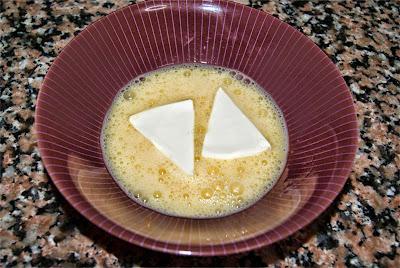 Bocaditos de queso frito paso 1