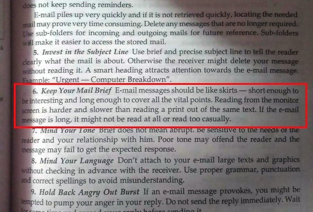 This Delhi University BCom Book Is Teaching Students That 'Emails Should Be Like Skirts'