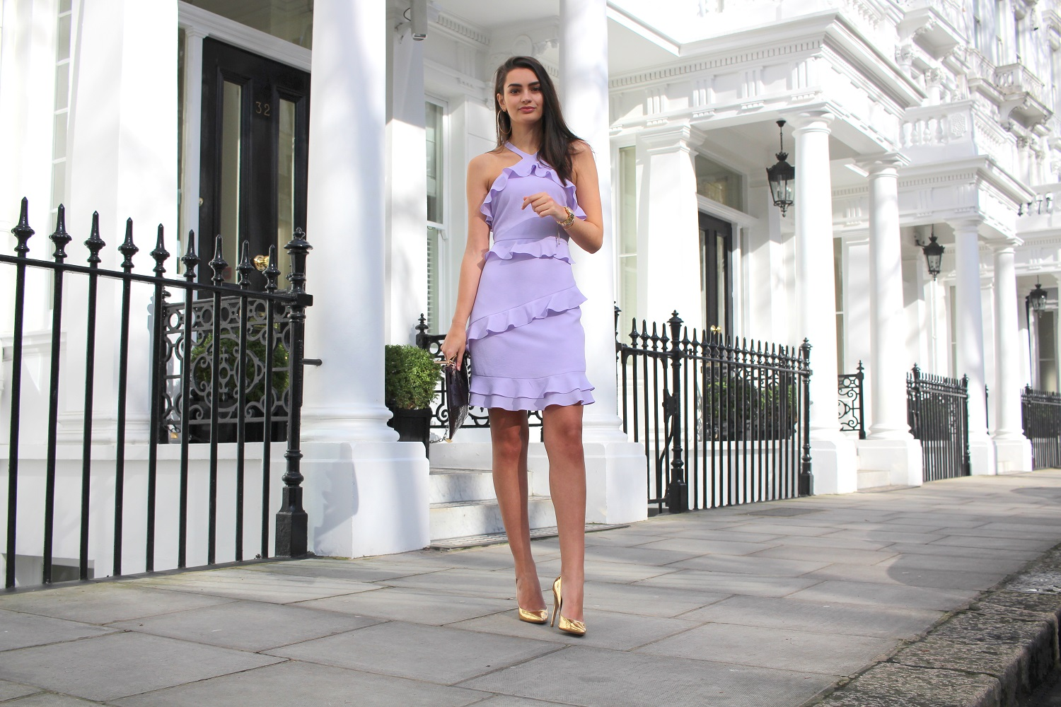 ruffle lilac dress wallis peexo