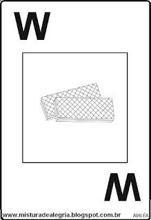 Baralho alfabético letra W