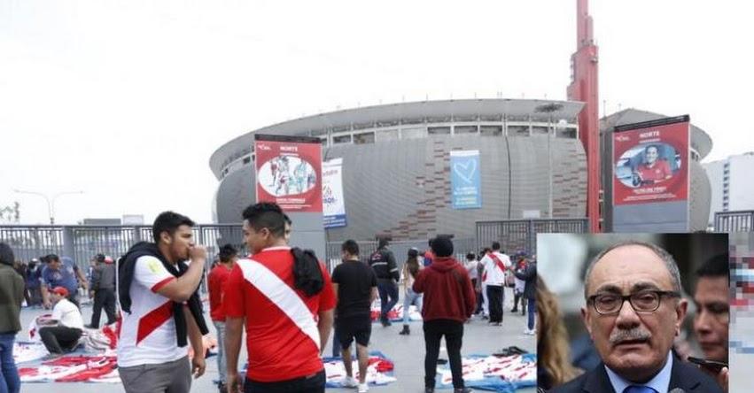 PERÚ Vs. NUEVA ZELANDA: Ministro de Educación Idel Vexler pide al IPD que el repechaje se juegue en el Estadio Nacional