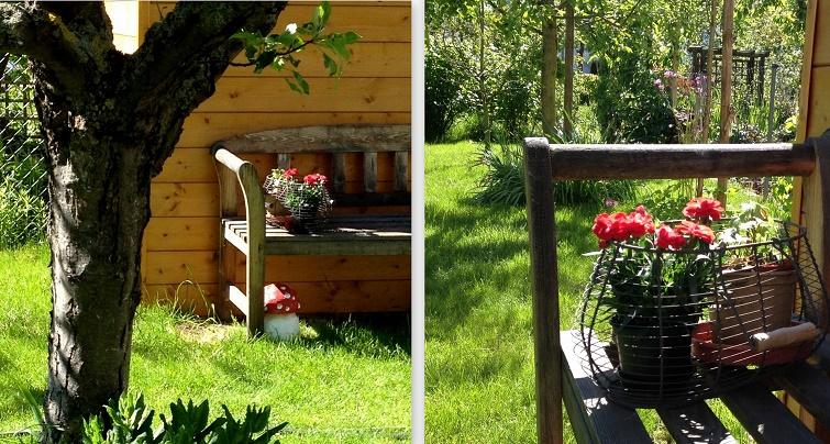 Zier- und Nutzgarten  ein Landhausgarten