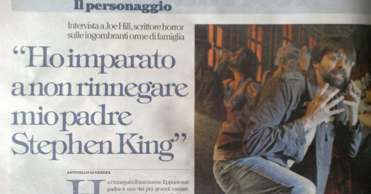 Un'intervista a Joe Hill su Repubblica