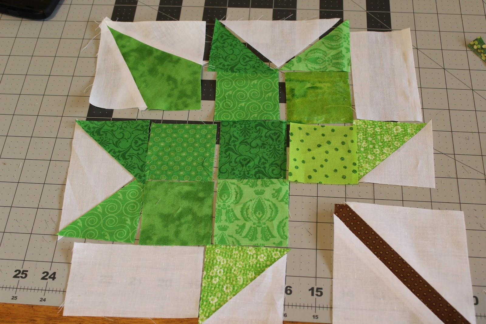 ohio thoughts maple leaf quilt block