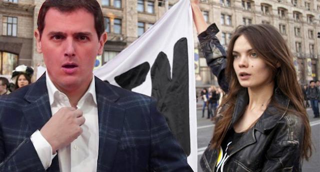 Femen revientan un acto de Albert Rivera