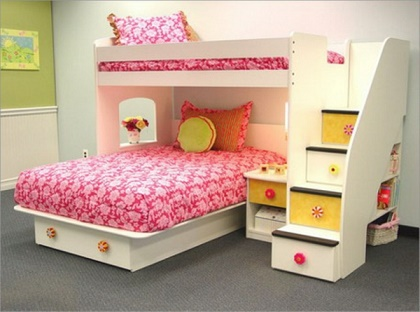 Modelos de camas literas para ni as ideas para decorar - Literas para ninas ...