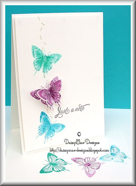Butterflies, colours, distress inking