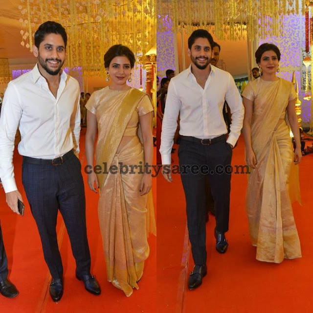 Samantha and Chaitanya at Swathi Wedding