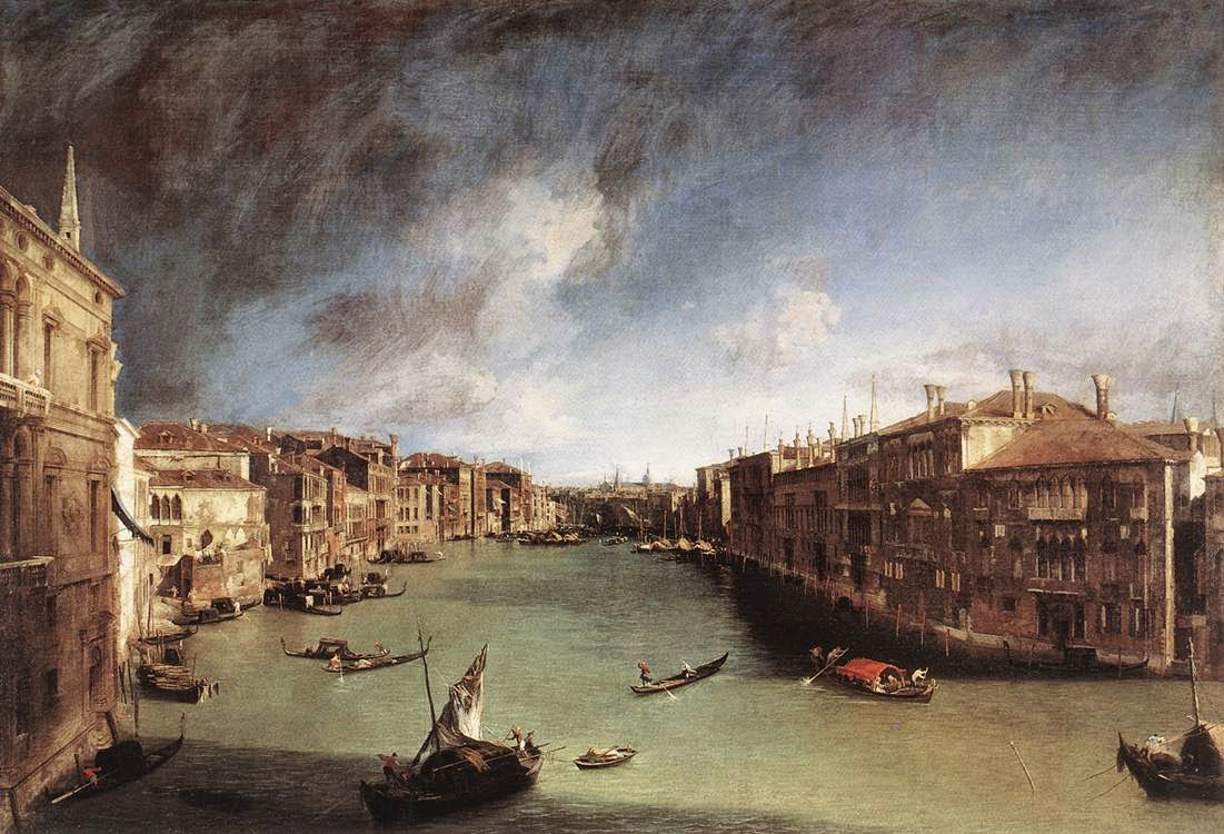 The Grand Canal, 1723-24, by Canaletto, Ca' Rezzonico, Venice