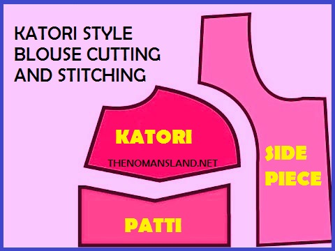 blouse cutting-how to to katori cut band choli cut