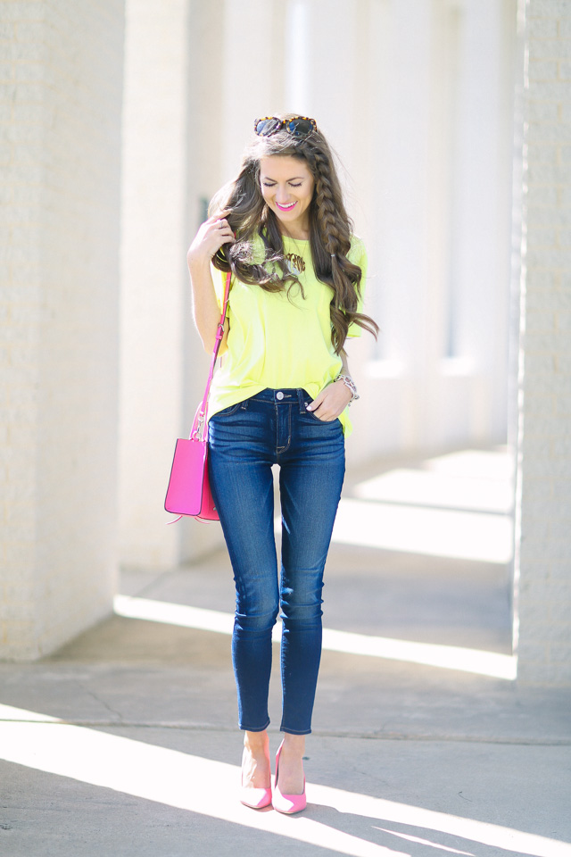 Southern Curls u0026 Pearls Pops of Neon with DSW...