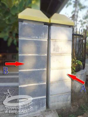 A = sebelum dibersihkan, B = setelah dibersihkan