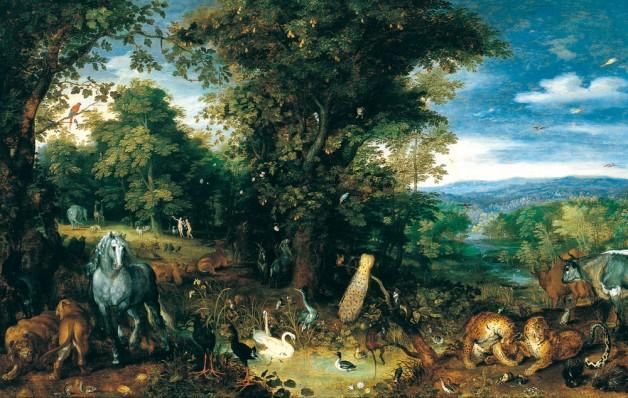 Abra el azul del cielo el jard n del ed n de brueghel for Jardin del eden